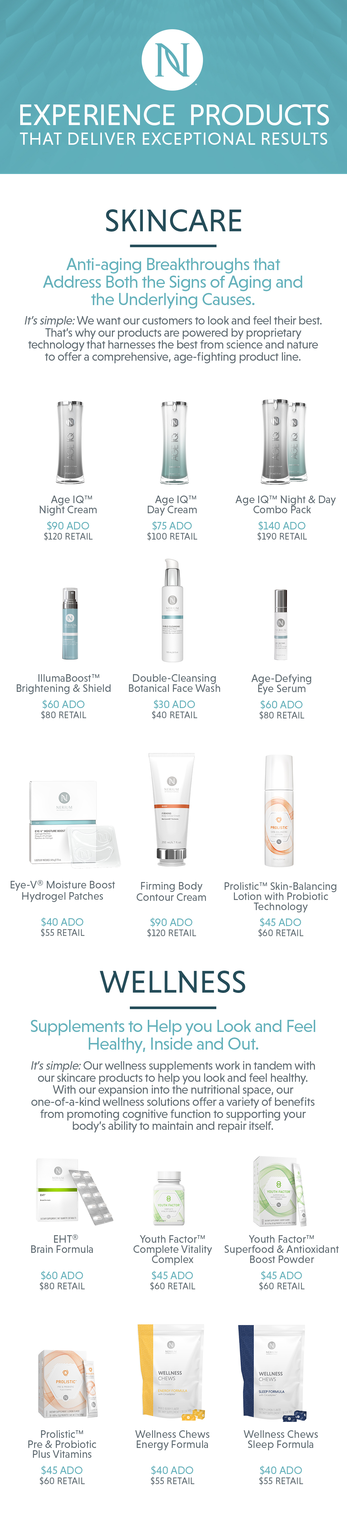 Age-fighting skincare and wellness solutions