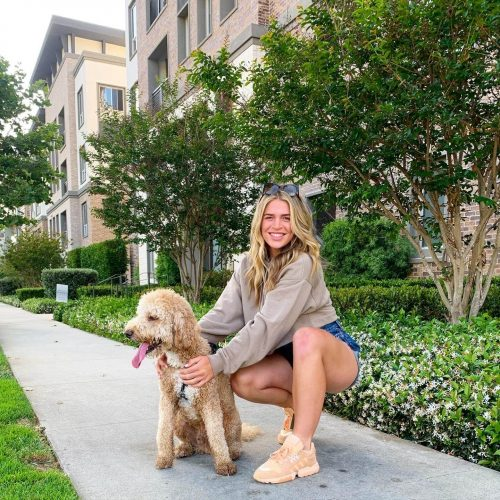 Maxie Haase with her dog